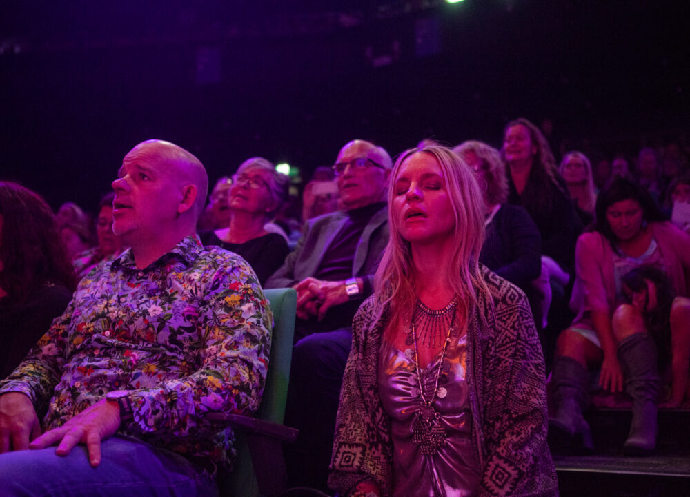 Deva Premal and Miten with Manose at Stockholm Waterfront audience